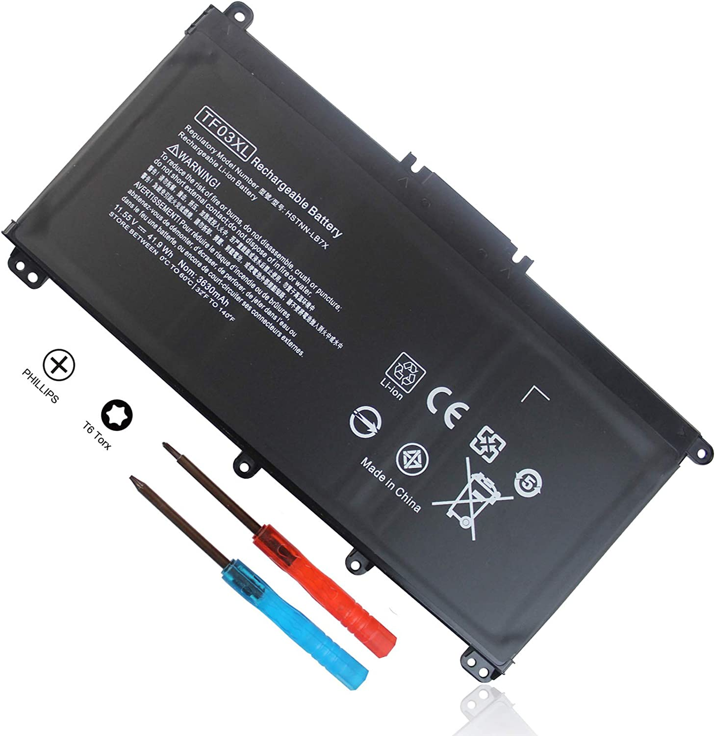 TF03XL 920070-855 920046-421 Battery for HP Pavilion 15-CC 15-CD 15-CC023CL 17-AR050WM 17-AR007CA 15-cc154cl 15-cc060wm 15-cc152od 15-cd040wm 920046-121 920046-541 HSTNN-LB7X HSTNN-IB7Y HSTNN-LB7J