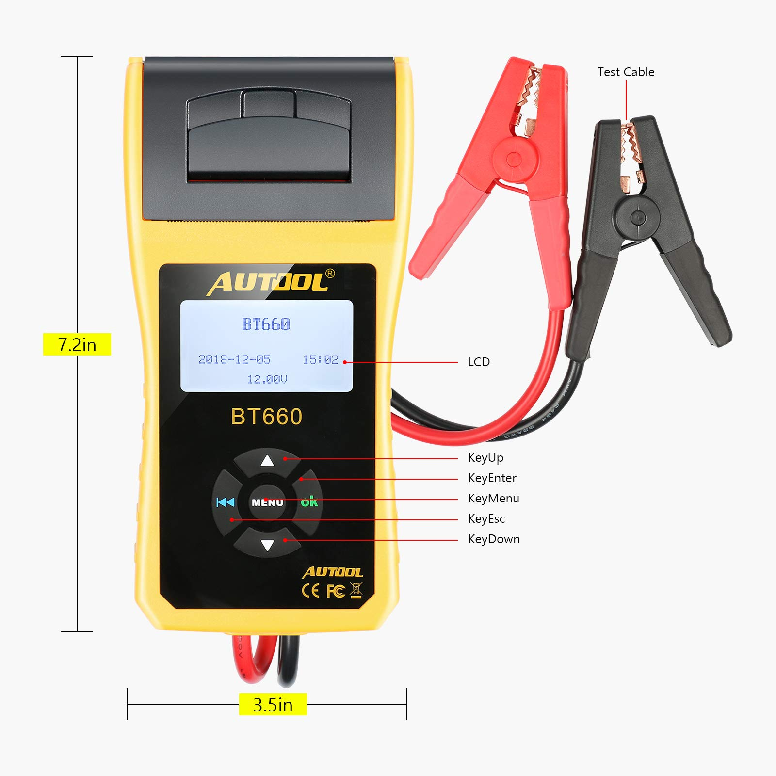 AUTOOL BT660 Battery Conductance Tester 12V/24V BT-660 Auto Battery Testers Automotive Diagnostic Tools for Heavy Duty Trucks, Light Duty Truck, Cars by AUTOOL (Image #8)