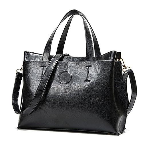fdedf3583c45 Amazon.com  2018 Women Bag Handbag Tote Over Shoulder Crossbody Autumn  Winter Leather Big Brand Black Letter Casual Bolsas  Shoes