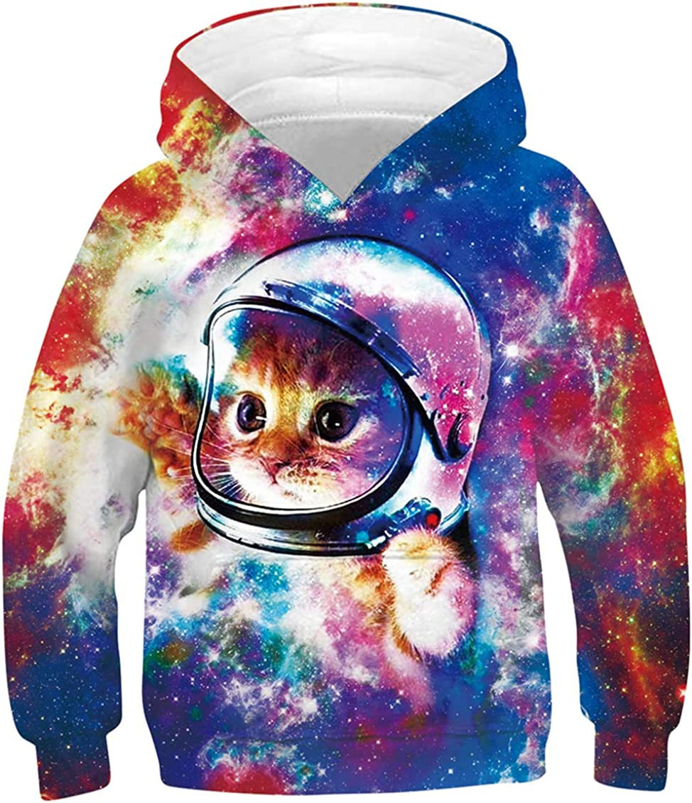 RAISEVERN Teen Boys Girls Hoodies Pullover Kids Hooded Sweatshirts 6-16T
