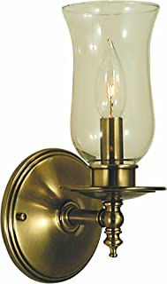 product image for Framburg 2501 AB Sheraton 1-Light Wall Sconce with Clear Hurricane Glass, Antique Brass