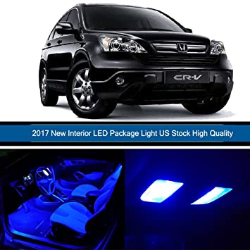 cciyu 8 Pack LED bombilla para 2002 - 2006 Honda CRV LED luces interiores accesorios Kit de paquete de repuesto, color azul: Amazon.es: Coche y moto