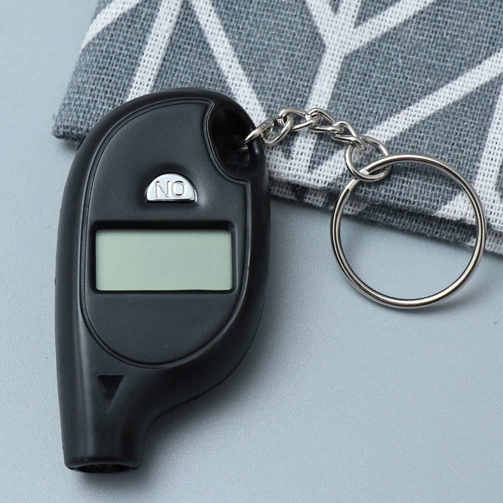Wakauto 2Pcs Tire Pressure Gauge Car Vehicle Portable Mini Digital LCD Tire Wheel Air Pressure Inflator Gauge Tester with Keychain