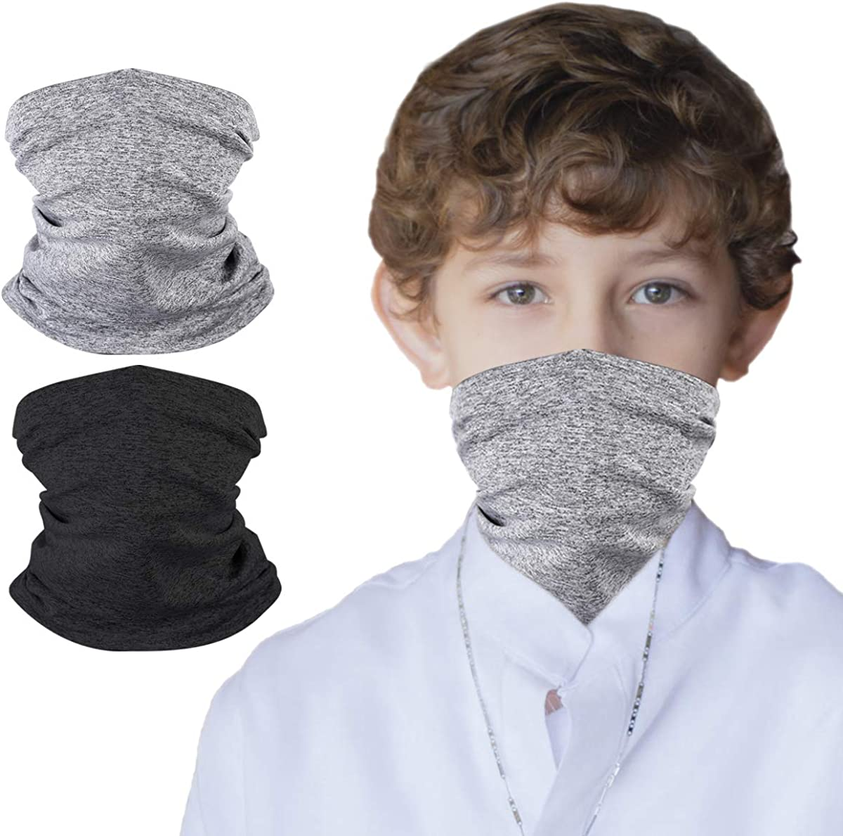 Kids UV Protection Face Cover Neck Gaiter for Hot Summer Cycling Hiking Sport Outdoor