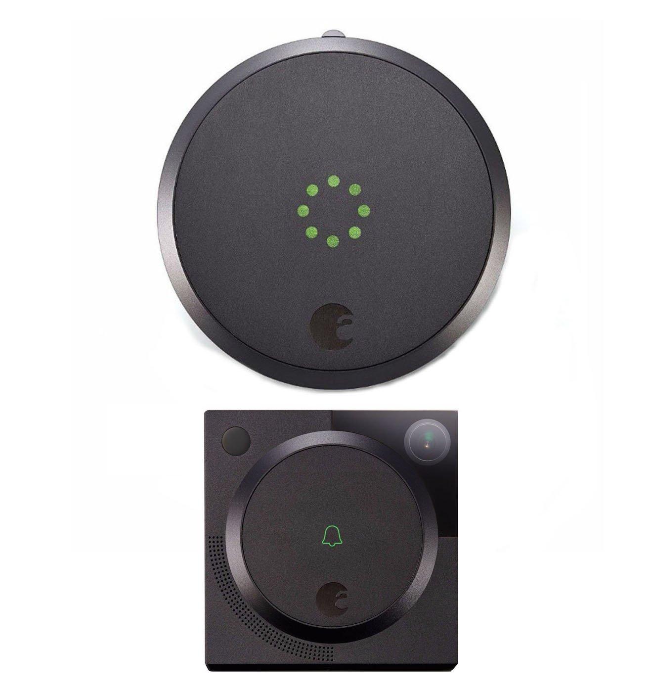 August Smart Lock with Video Doorbell Cam In Dark Gray