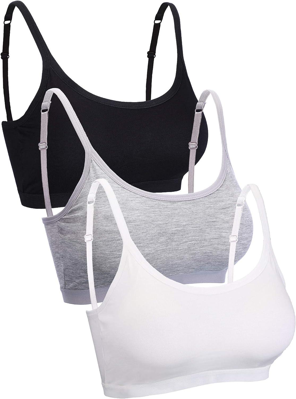 Blulu Mini Camisole Bra Wireless Padded Bra with Adjustable Straps for Women Girls Favors