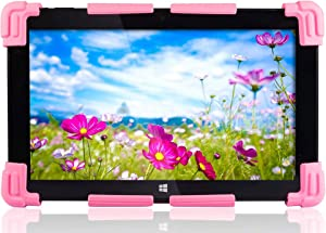 """Fusion5 Universal Tablet PC Silicone Gel Case for 9"""" to 12"""" - Suitable for 9"""", 9.6"""", 10"""", 10.1"""", 10.6"""", 11.1"""", 11.6"""", 12"""" Tablet PCs (Pink)"""