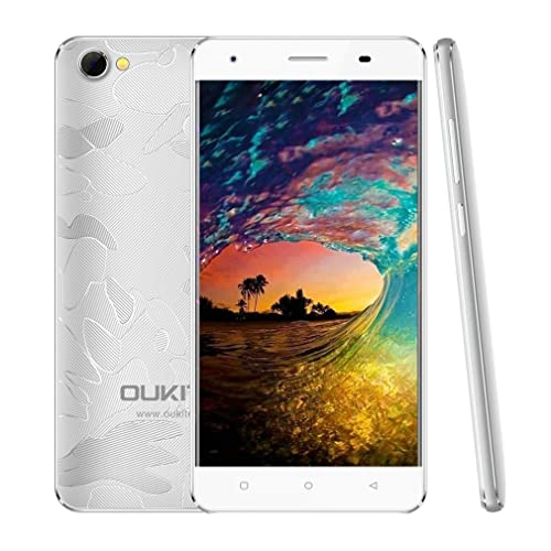 OUKITEL C5 Pro Unlocked 4G Smartphone, 5.0'' HD Display Quad Core Android Mobile Phones,2GB RAM 16GB ROM,Dual SIM Dual Standby,Quick Charging (Silver)