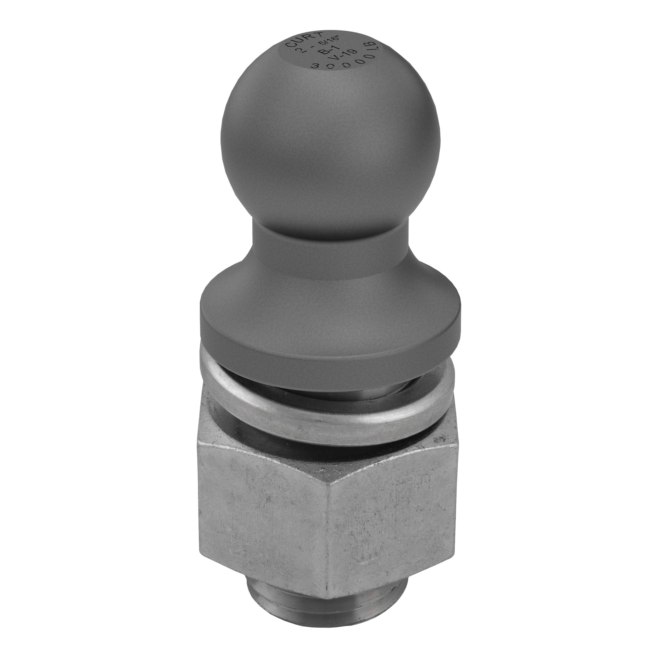 CURT 40088 Raw Steel Trailer Hitch Ball, 30,000 lbs., 2-5/16-Inch Diameter Tow Ball with 2-Inch x 3-1/2-Inch Shank by CURT