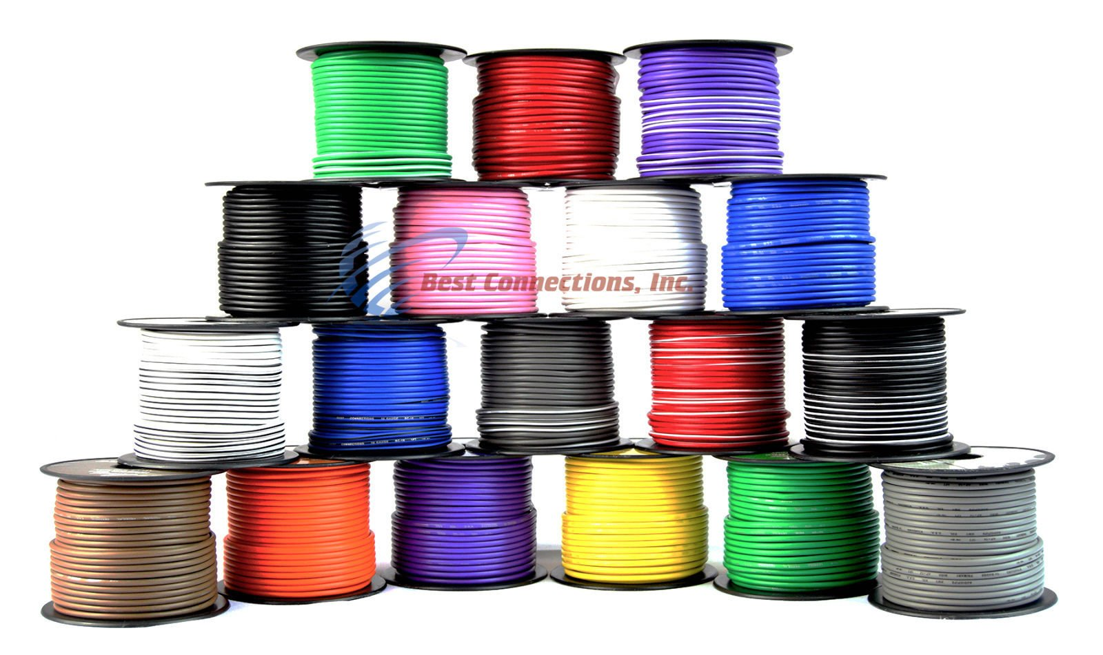 16 Gauge 18 Rolls 100' FT Spool Primary Remote Wire Single Conductor Copper Clad