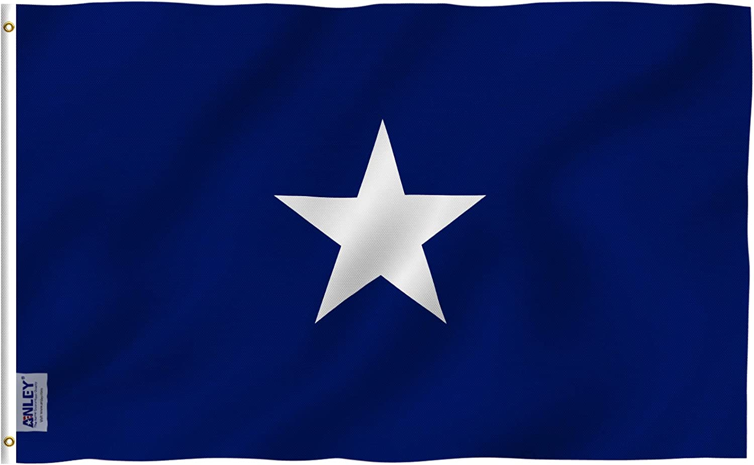 Anley Fly Breeze 3x5 Foot Bonnie Blue Flag - Vivid Color and Fade Proof - Canvas Header and Double Stitched - Bonnie Blue Flags Polyester with Brass Grommets 3 X 5 Ft
