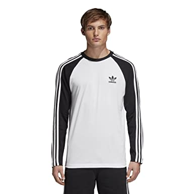 8b35fd2d71 adidas Originals Men's 3 Stripes Long Sleeve T-Shirt: Amazon.ca: Clothing &  Accessories