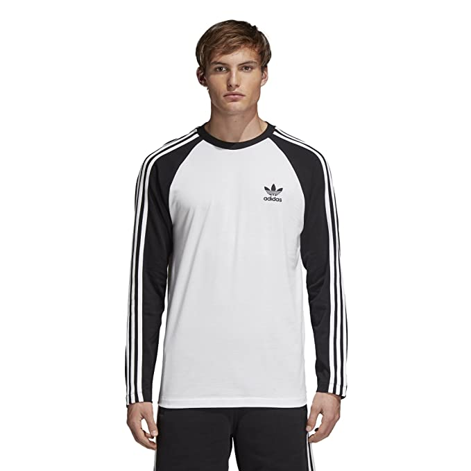 56132f24b adidas Originals Men's 3 Stripes Long Sleeve T-Shirt: Amazon.ca ...