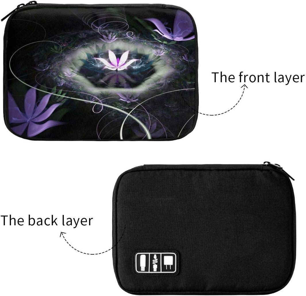 Nature Flowers Floral Spring Electronic Organizer Travel Case for Cable Storage Phone USB Sd Card Charger Hard Drives