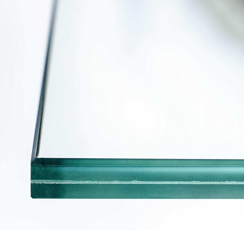 klar durchsichtig 0,76mm Folie Kanten geschliffen und poliert Zuschnitt nach Ma/ß bis 30 x 40 cm VSG Verbundsicherheitsglas 300 x 400 mm Ecken gesto/ßen. 12mm