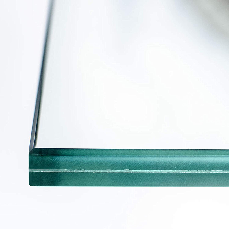 Ecken gesto/ßen. 1000 x 1500 mm 0,76mm Folie nach Ma/ß bis 240 x 480 cm VSG Verbundsicherheitsglas klar durchsichtig 12mm Kanten geschliffen und poliert Zuschnitt bis 100 x 150 cm