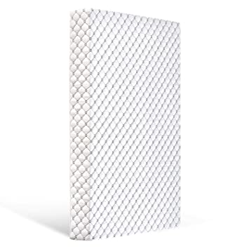 Breathable|Feel Soft|Size:52X27.6X5(White) Bubble bear Knitted Premium Foam Crib Mattress and Toddler Mattress with Removable Washable Protector Cover Good Flexibility