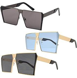 Amazon.com: Telam Retro Ronda anteojos de sol Hombres ...