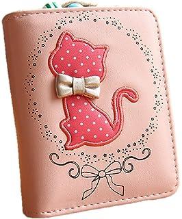 2b51fec23df0 Amazon | ノーブランド品 レディース 財布 短財布 ねこ 二つ折り ...