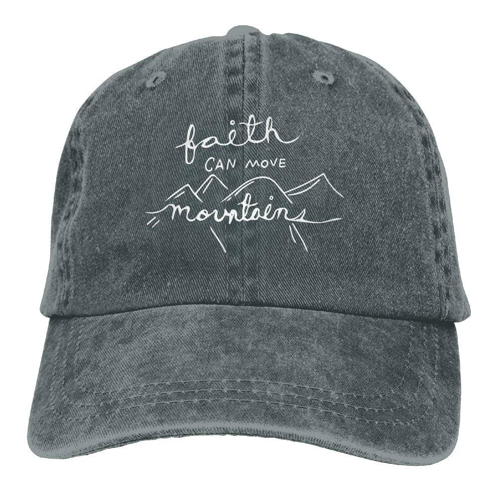 1030c390ff6 New Baseball Cap 2018 Our Faith Can Move Mountains 1-1 Plain Unisex Adjustable  Hat at Amazon Men s Clothing store