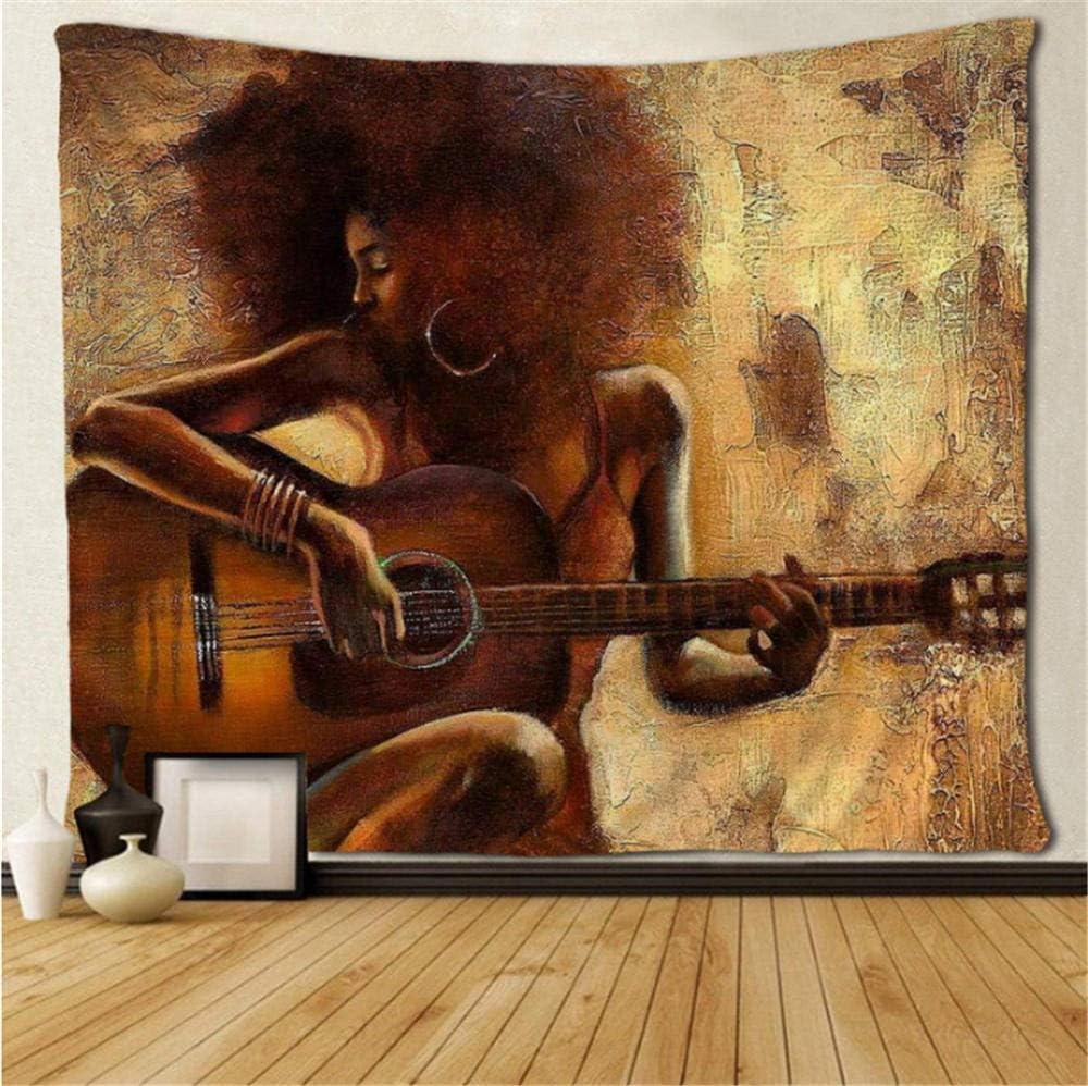 wrhua Tapiz De Arte Negro Mujer Afroamericana Tocando El Tapiz De ...