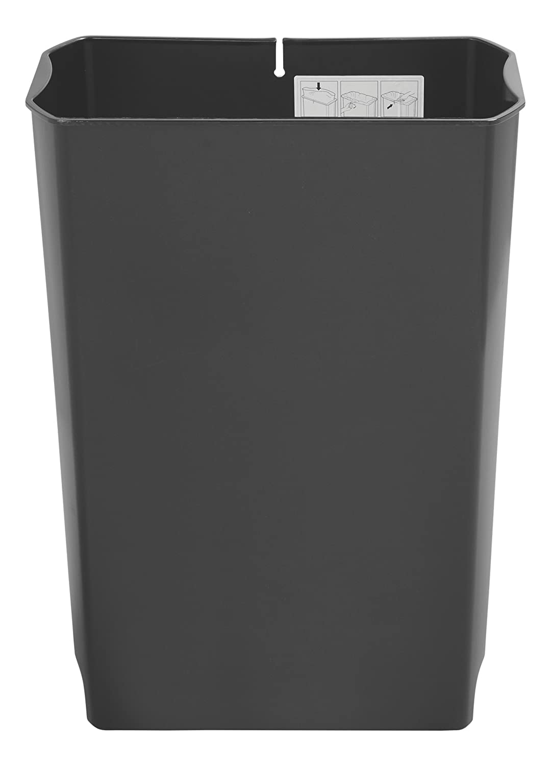 Plastic Rubbermaid Commercial Slim Jim Front Step-On Trash Can Rigid Liner 24 Gallon Rubbermaid Commercial Products 1883621