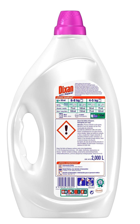 Dixan Detergente Líquido Adiós al Separar - 40 lavados (2 L)