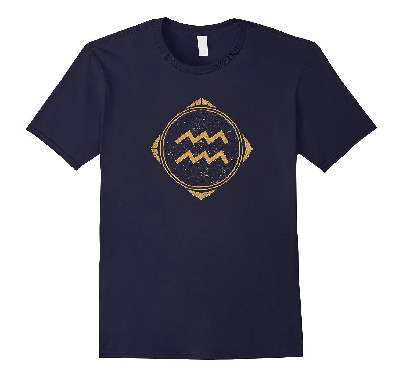 Aquarius symbol zodiac sign horoscope T-shirt-CD