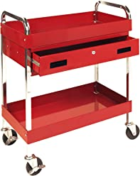 Performance Tool W54004 Two Shelf Utility Cart with Drawer