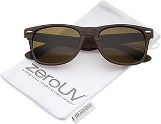 a31ca95f86 Classic Shape Wood Printed Square Lens Horn Rimmed Sunglasses 55mm