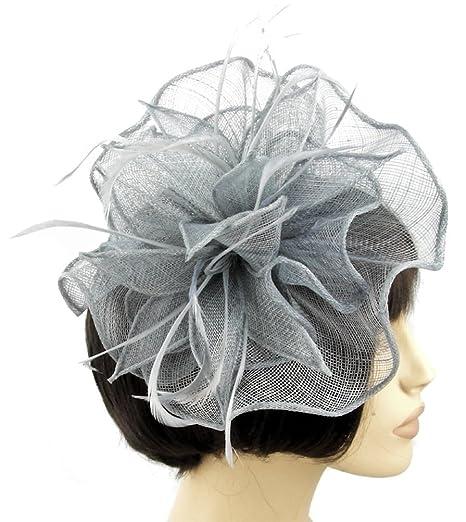 ampia scelta di colori e disegni dove posso comprare check-out Sinamay ventaglio grande, colore: grigio argento, a forma di ...