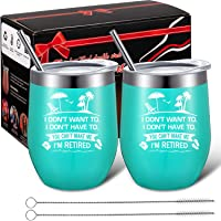 2 Pack Retirement Gifts I Don't Want To I Don't Have To I'm Retired Funny Retirement...