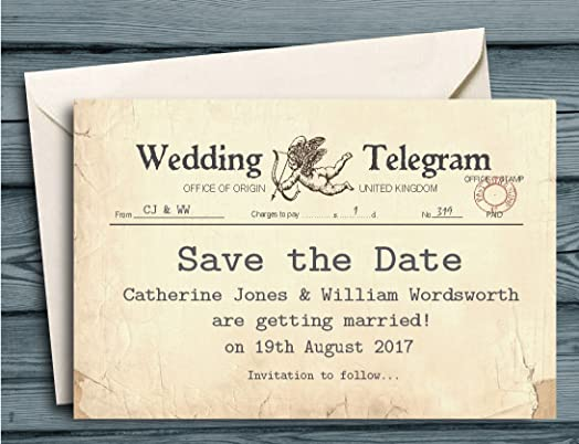 40 Personalised Save The Date Cards
