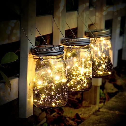 SUNNOW Luce Solare Esterno,3 Pezzi Lampada Solare Luci da Giardino con 30LED Impermeabile,Luce Led Decorazione per da Esterno Giardino Patio Giardino Feste Camera da Letto Natale Decorativa
