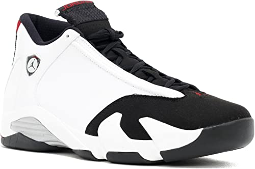 Nike Air Jordan 14 Retro sz 12 White Varsity Red Metallic Silver Black 487471 102