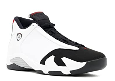46fe3d4691977e Jordan Air 14 Retro Men s Shoes White Black-Varsity Red-Metallic Silver  487471