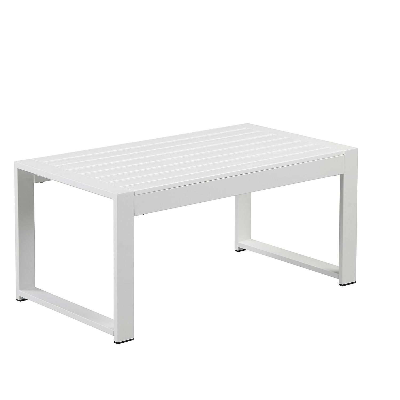Amazon.com: Pangea Home Chester Coffee Table, White: Kitchen ...