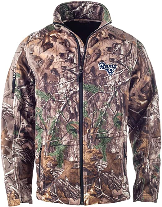 Dunbrooke Apparel NFL Camo Cotton Canvas Quilt Lined Hooded Camoflauge Jacket