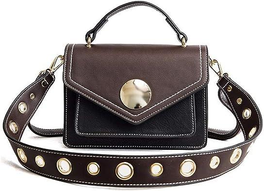 Women Solid Shoulder Popular Handbag PU Messenger Crossbody Bags