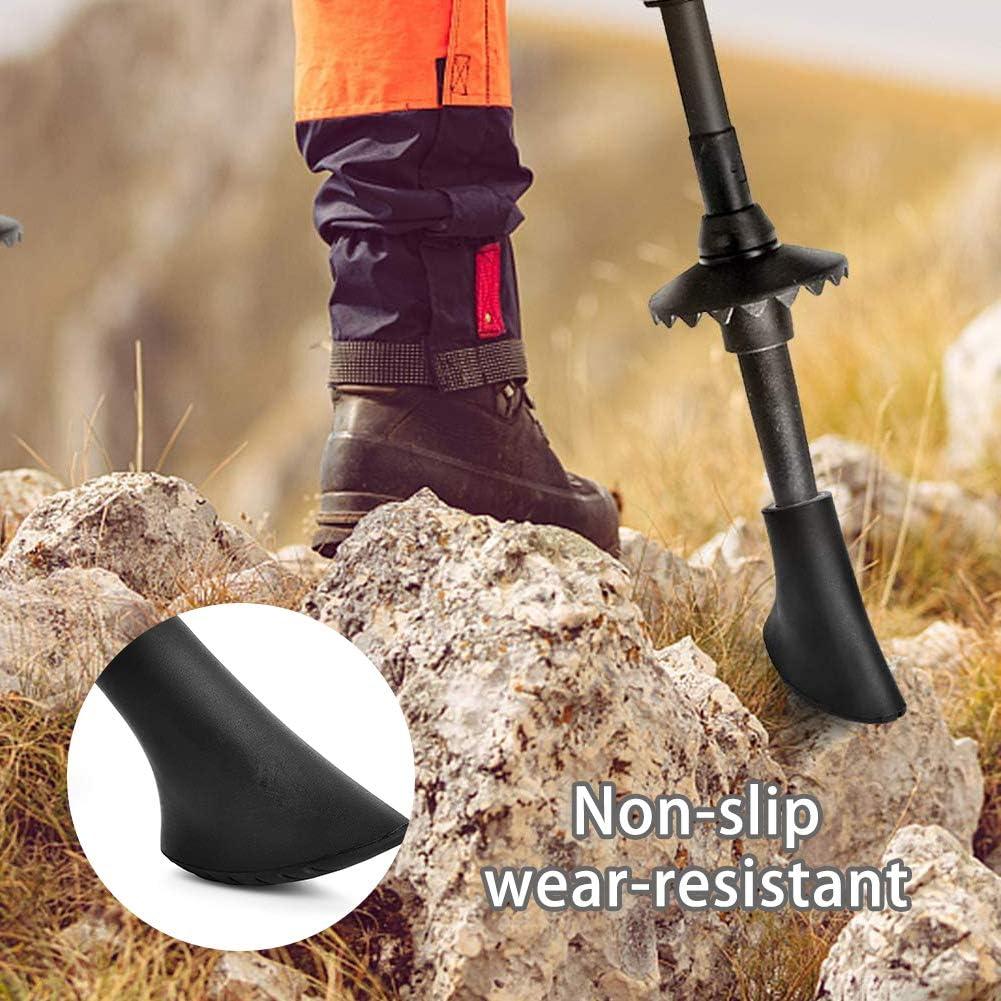 Vegena Lot de 10 tampons en caoutchouc pour b/âtons de marche nordique et b/âtons de marche nordique
