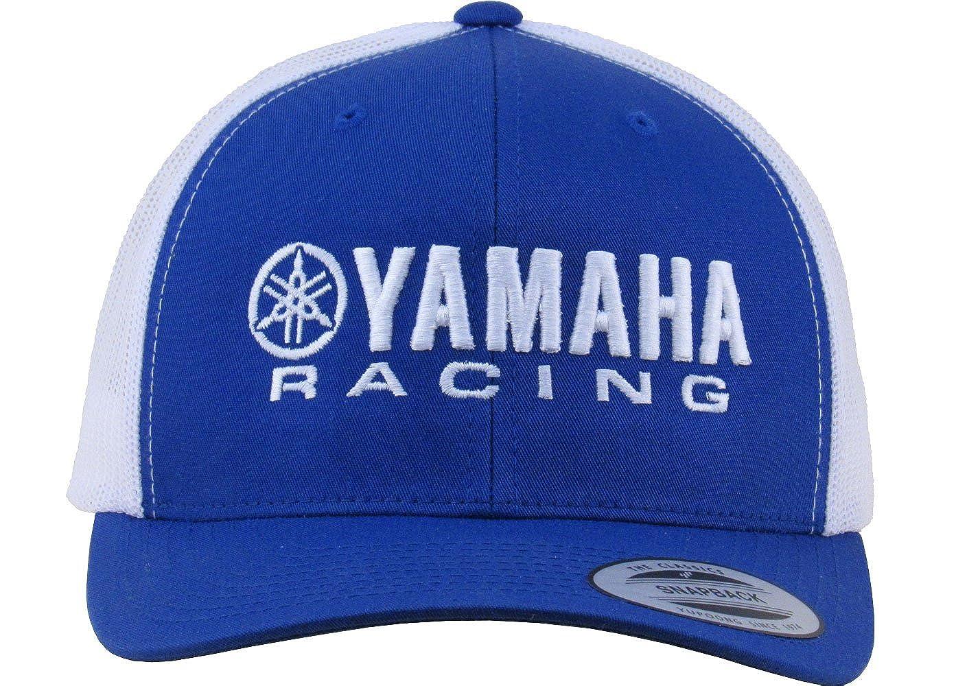 Mayhem Industries Yamaha Race Flex Fit Mesh 2-Tone Trucker Twill/Mesh Hat YM-7001-ROY/WHT