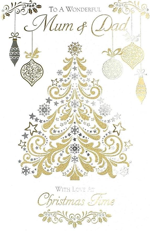Cards Galore Online Tarjeta de Navidad para mamá y papá ...