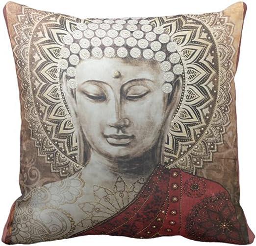 """Budha Printed Cushion Cover Pillow Throw Case Home Decor Sz 12/""""16/""""18/""""20/""""24/"""""""