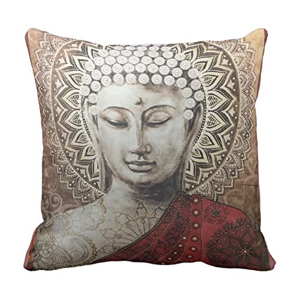 Amazon Emvency Throw Pillow Cover Buddha Love Decorative Pillow Simple Buddha Decorative Pillows