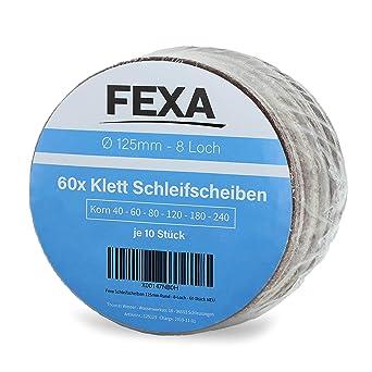 Schleifscheiben 125mm 8 Loch Set Klett Schleifpapier Schleifblätter Exzenter