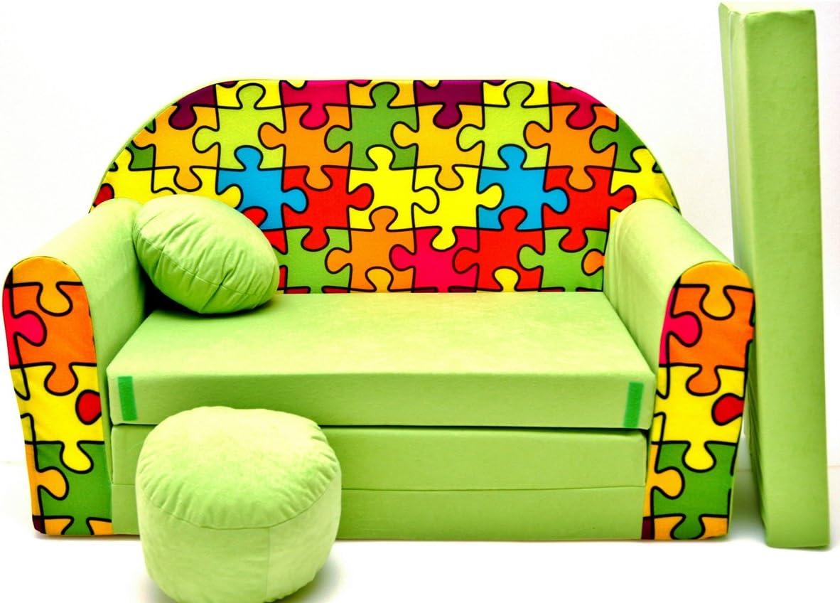 Kids Comfy Soft Foam Chair Toddlers Armchair Seat Futon Nursery Baby Sofa H3
