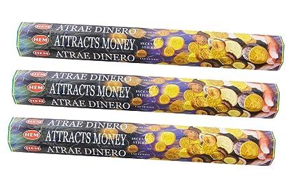 Amazon.com: Hem Attracts Money 20 x 3=60 Incense Sticks ...