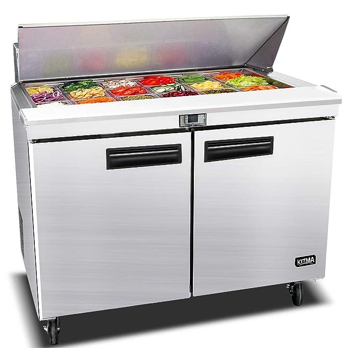 Top 9 Prep Table Refrigerator