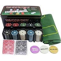 Styleys Poker Set Casino Game - 200 Poker Chips