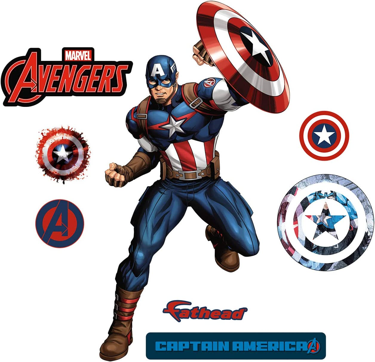 FATHEAD Captain America-X-Large Officially Licensed Marvel Removable Wall Decal